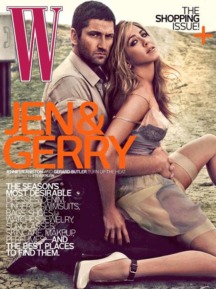 W Magazine Jennifer Aniston Gerard Butler
