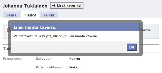 Johanna Tukiainen Facebook