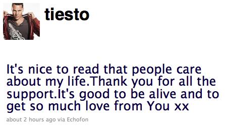 DJ Tiesto Not Dead