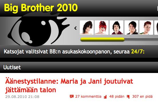 Big Brother 2010 huijausepäily 1