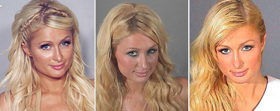 Paris Hilton Mugshots