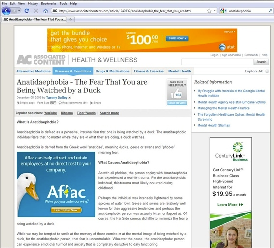 anatidaefobia