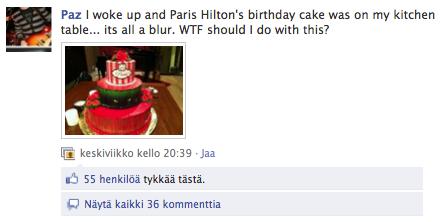 Paris Hilton Cake