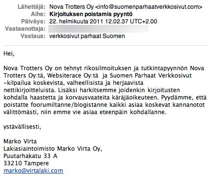Suomen Parhaat Verkkosivut Nova Trotters Oy