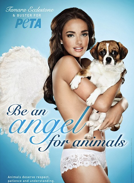 Tamara Ecclestone PETA