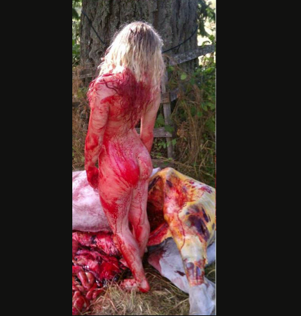 nainen alastomana Outokumpu