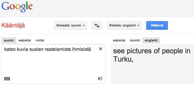 Suomi Englanti Google Kääntäjä