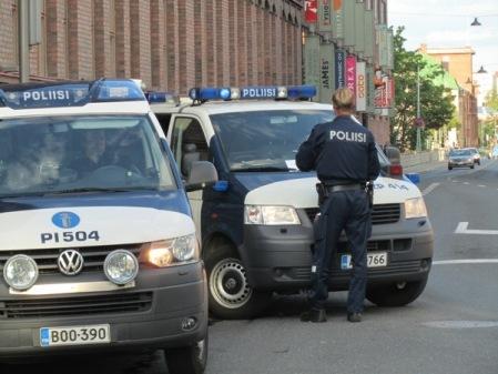 Poliisi sulki Satakunnankadun. Kuva: Stara