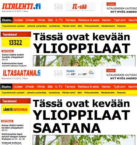Kuva: Iltalehti.fi ja Iltasaatana.fi