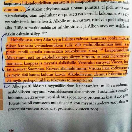 Martti Häikiö, Alkon historia 2007.