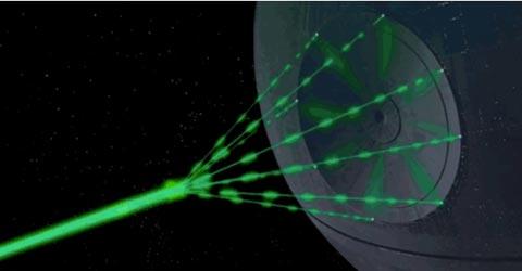 Kuolemantähden laserase, Kuva: Lucasfilms