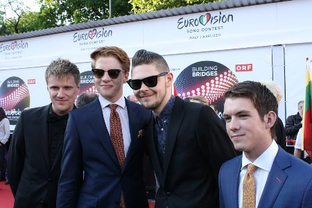 Tanskan euroviisuedustus. Kuva: Heidi Maijala, Stara