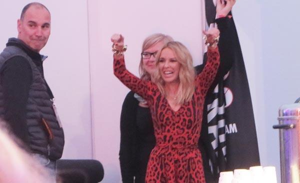 Kylie Minogue Pori Jazzin backstagella, Kuva: Stara