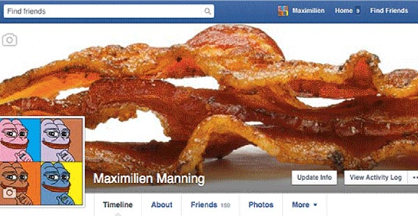 Maximilien Manning, Facebook