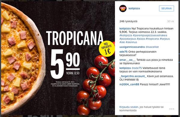 Kotipizza, instagram