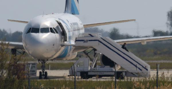 Kaapattu lentokone ulkoa, Kuva: Splash