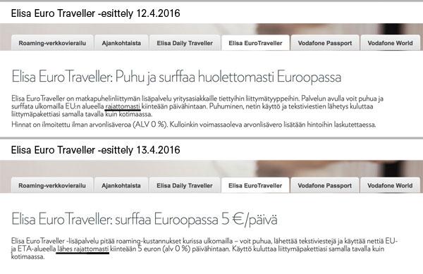 Elisa Euro Traveller