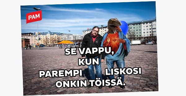 PAM-kampanjan parodiakuva