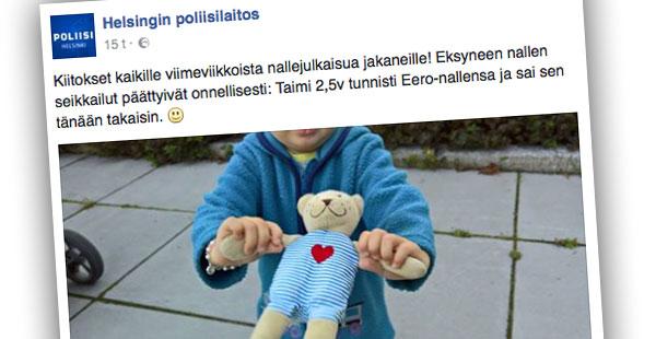 Facebook, Helsingin poliisilaitos
