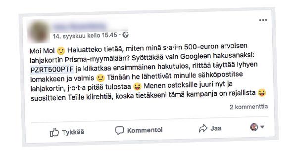 Voita S-ryhmän 500 euron lahjakortti! Osallistu Kodin Kuvalehden kyselyyn Facebookista
